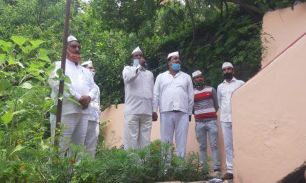 कांग्रेस सेवादल ने जोर शोर से मनाया ध्वज बन्धन कार्यक्रम।