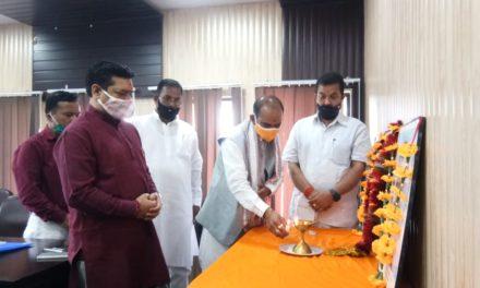 भाजपा प्रदेश संगठन महामंत्री ने कार्यकर्ताओं के साथ की बैठक।