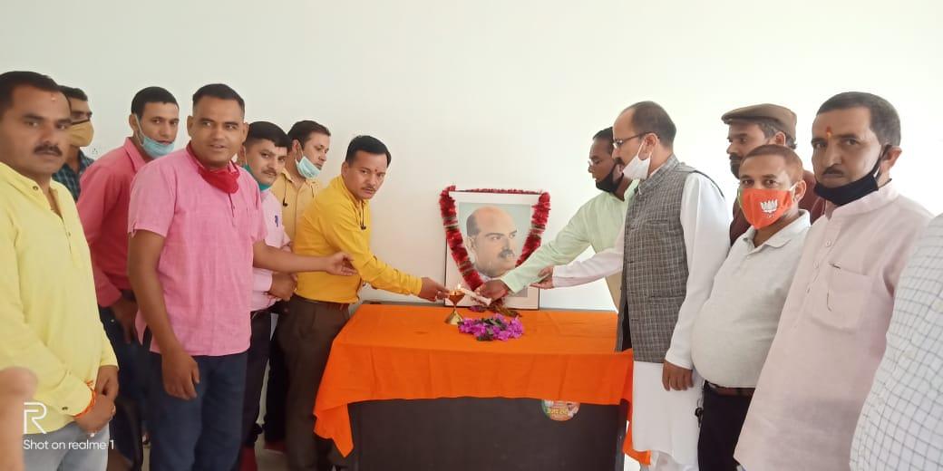 डॉ श्यामा प्रसाद मुखर्जी के जन्म दिवस को भाजपा ने मनाया धूमधाम से।