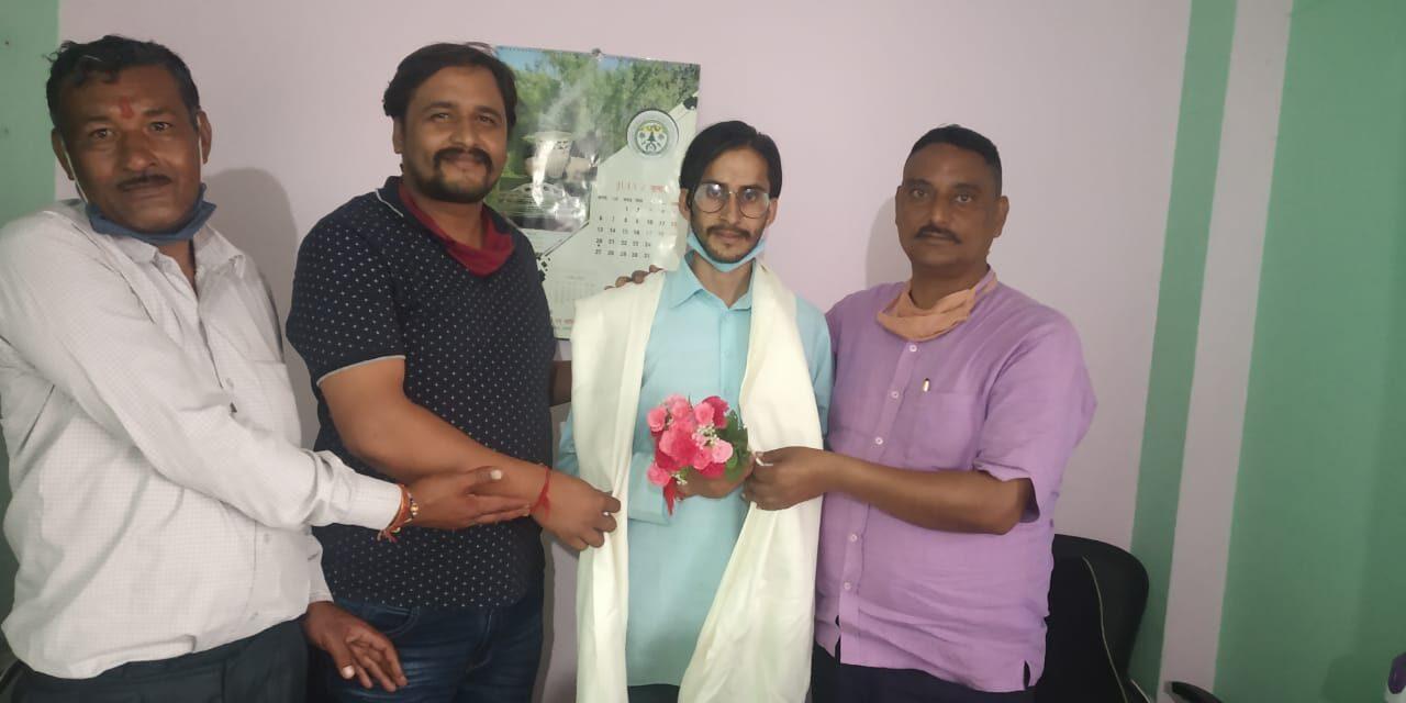 एनएसयूआई के राष्ट्रीय कोऑर्डिनेटर भट्ट का कर्नाटक ने किया स्वागत