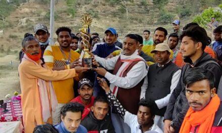 कर्नाटक ने किया जय बाबा भीम गदा क्रिकेट प्रतियोगिता का समापन, रौन की टीम रही विजेता