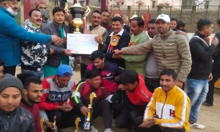 शिव शक्ति क्रिकेट क्लब ने जीता एम एस पी एल का फाइनल, पूर्व दर्जा मंत्री कर्नाटक ने दी विजेता टीम को ट्रॉफी
