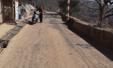 पेयजल लाईन कार्य पूर्ण होने के दो सप्ताह बाद भी सड़क का डामरीकरण ना होना दुर्भाग्यपूर्ण-कर्नाटक