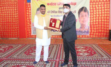 श्री भुनेश्वर महादेव रामलीला कमेटी कर्नाटक खोला ने जिला अधिकारी भदोरिया के सम्मान में किया कार्यक्रम