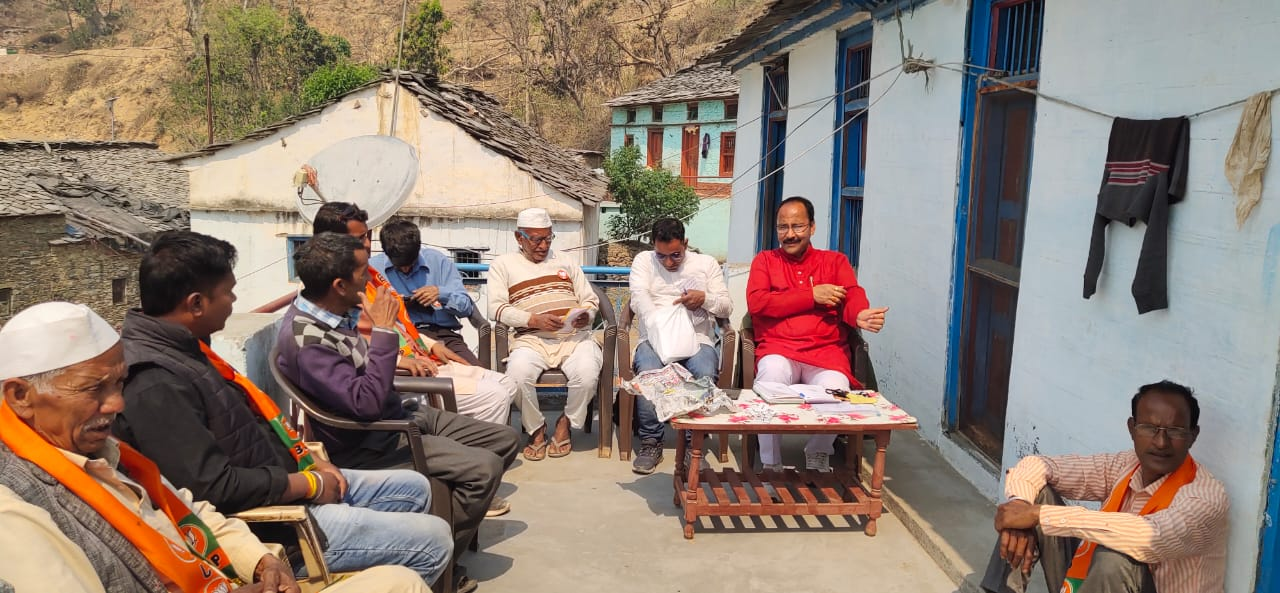 भाजपा प्रत्याशी के समर्थन में पालीघनयाल शक्ति केंद्र के प्रभारी ललित लटवाल ने की बैठक