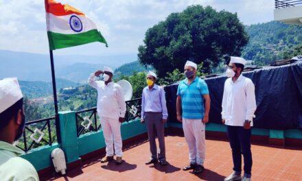 जनपद अल्मोड़ा के सेवादल  कार्यकर्ताओं द्वारा हर्षोल्लास से मनाया गया ध्वज वंदन कार्यक्रम