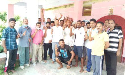 चौमू कलसीमा मोटर मार्ग में डामरीकरण के संबंध में विभागीय टेंडर होने पर ग्रामीणों ने जताया आभार