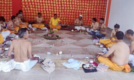 भुवनेश्वर महादेव  रामलीला कमेटी कर्नाटक खोला के तत्त्वधान में श्रावणी उपाकर्म्(रक्षाबंधन) के कार्यक्रम का किया गया आयोजन