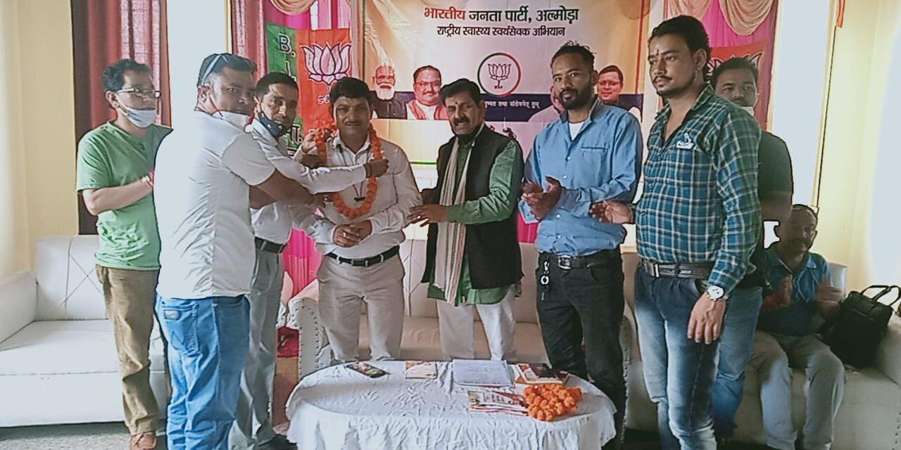भाजपा ने ग्रामीण मंडल के राष्ट्रीय स्वास्थ्य स्वयंसेवक  अभियान का प्रशिक्षण किया आयोजित