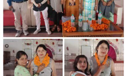 जसपुर पहुंचने पर महिला मोर्चा प्रदेश मंत्री किरन पंत का कार्यकर्ताओं ने किया स्वागत